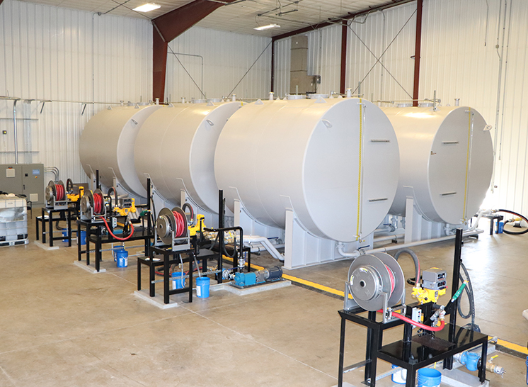 Custom Designed Lubricant Storage & Delivery System