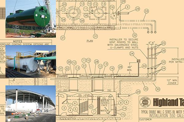 Oil/Water Separator Installation Drawings